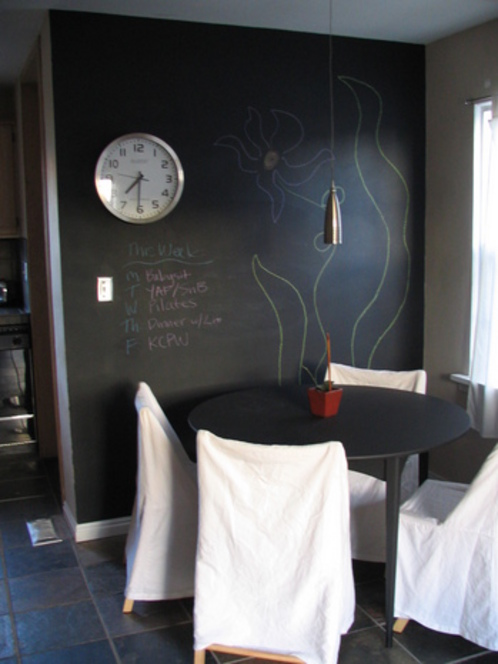 Easy DIY chalkboard wall picture